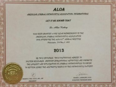 ALOA- American Lingual Orthodontic Association